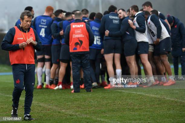 Head coach France rugby team Fabien Galthie during the French Rugby Team training session ahead the 6 Nations match against Scotland on March 04 2020...