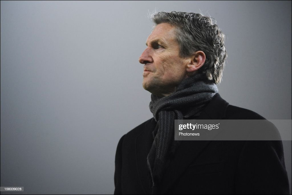 Head coach Francky Dury of Zulte-Waregem during the Cofidis Cup 1/4 final away match between SV Zulte Waregem and KRC Genk in the Regenboog stadium on December 13, 2012 in Waregem, Belgium.