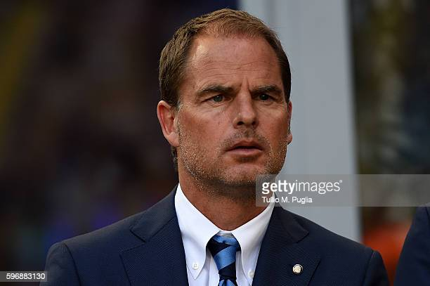 Head coach Frank de Boer of Internazionale looks on during the Seria A match between FC Internazionale and US Citta di Palermo at Stadio Giuseppe...