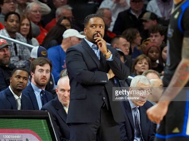 Head coach Frank Haith of the Tulsa Golden Hurricane on the sidelines in the game against the Cincinnati Bearcats during the second half at Fifth...