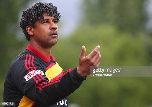 Head coach Frank Rijkaard of Galatasaray is seen during the Zayon Cup match between Galatasaray Istanbuch and Wydad AC Casablanca at the Lorheide...