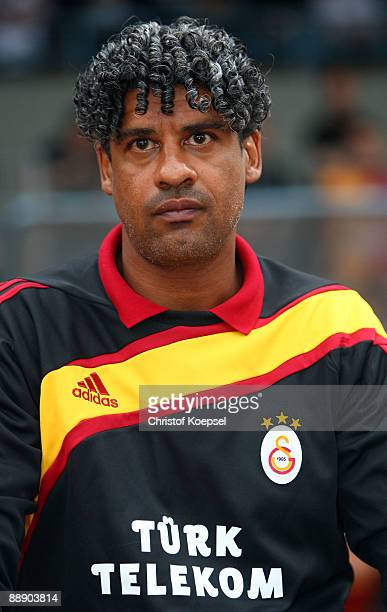 Head coach Frank Rijkaard of Galatasaray is seen during the Zayon Cup match between Galatasaray Istanbul and Wydad AC Casablanca at the Lorheide...