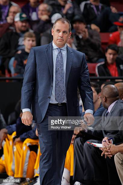 Head Coach Frank Vogel of the Indiana Pacers coaches against the Sacramento Kings on December 5 2014 at Sleep Train Arena in Sacramento California...