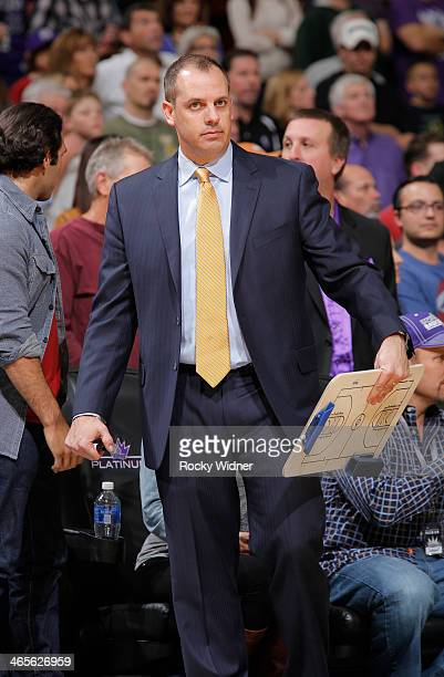 Head Coach Frank Vogel of the Indiana Pacers coaches against the Sacramento Kings on January 24 2014 at Sleep Train Arena in Sacramento California...