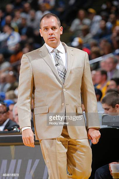 Head Coach Frank Vogel of the Indiana Pacers coaches against the Golden State Warriors on January 20 2014 at Oracle Arena in Oakland California NOTE...