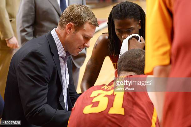 Head coach Fred Hoiberg of the Iowa State Cyclones during the game against the Texas Tech Red Raiders on January 24 2015 at United Supermarkets Arena...
