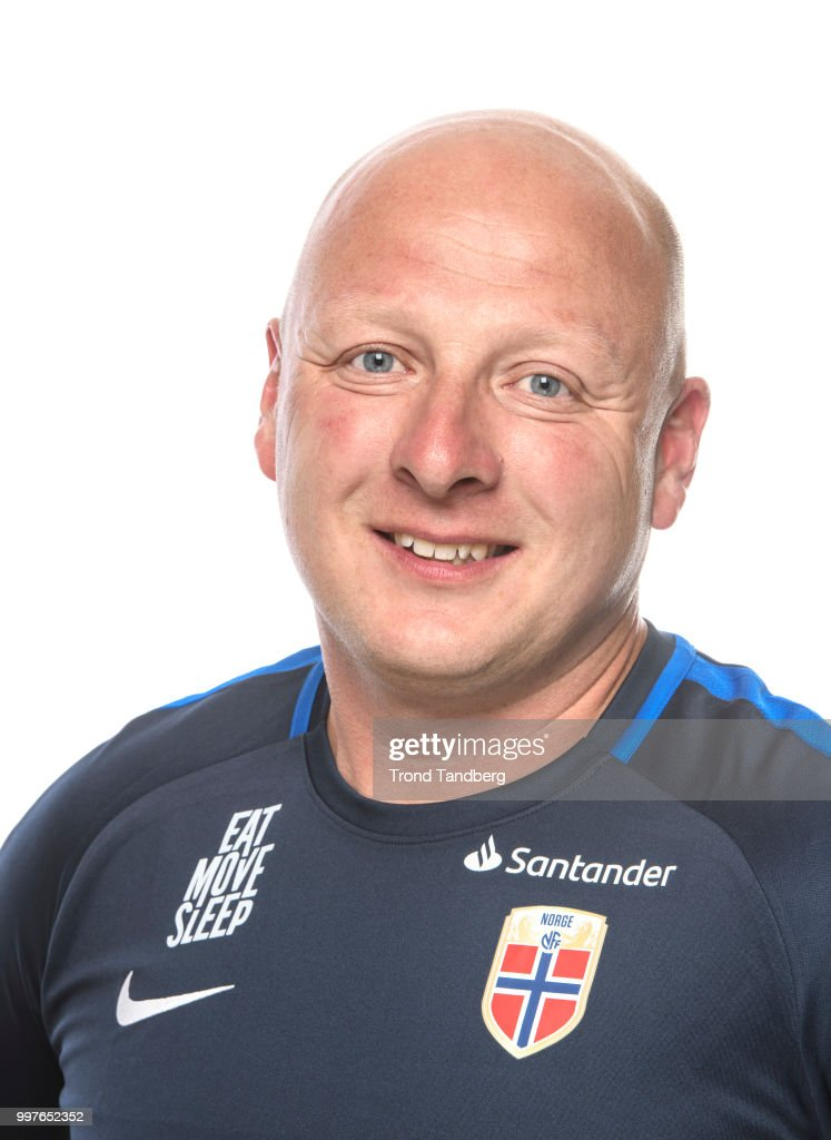 Head Coach G19 Nils Lexerød of Norway during J19 Photocall at Thon Arena on July 12, 2018 in Lillestrom, Norway.