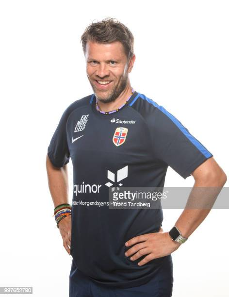 Head Coach G19 Paal Arne Johansen of Norway during G19 Men Photocall at Thon Arena on July 12 2018 in Lillestrom Norway