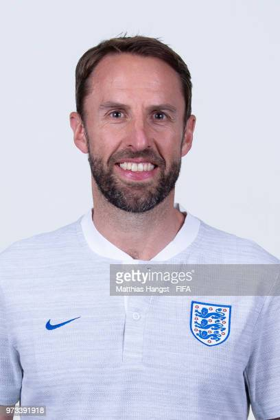 Head coach Gareth Southgate of England poses for a portrait during the official FIFA World Cup 2018 portrait session at on June 13 2018 in Saint...