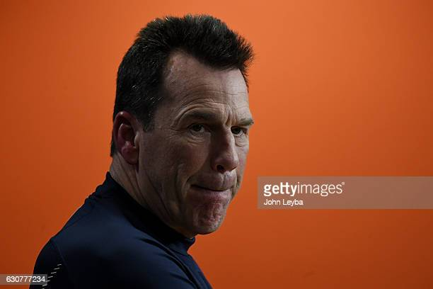 Head coach Gary Kubiak of the Denver Broncos during a press conference after the Broncos' 246 win over the Oakland Raiders on Sunday January 1 2017...