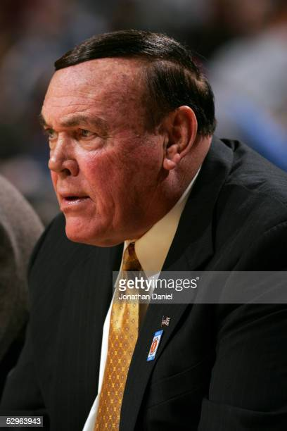 Head coach Gene Keady of the Purdue Boilermakers looks on against Iowa Hawkeyes during the first day of the Big Ten Men's Conference Basketball...