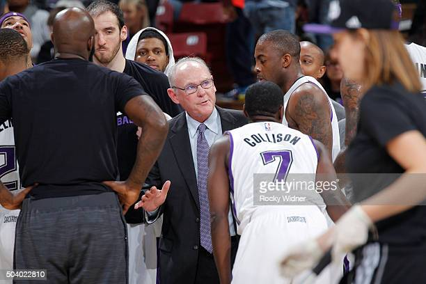 Head coach George Karl of the Sacramento Kings coaches against the Phoenix Suns on January 2 2016 at Sleep Train Arena in Sacramento California NOTE...