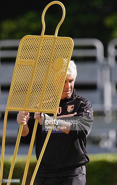 Head coach Gian Piero Gasperini in action during a Palermo training session at Tenente Carmelo Onorato Sports Center on November 2 2012 in Palermo...