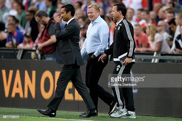 Head coach Giovanni van Bronckhorst of Feyenoord and head coach Ronald Koeman of Southampton walk on the pitch during the pre season friendly match...