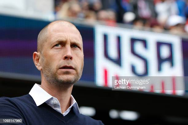 Head coach Gregg Berhalter of the United States men's national team looks on before their international friendly match against Costa Rica at Avaya...
