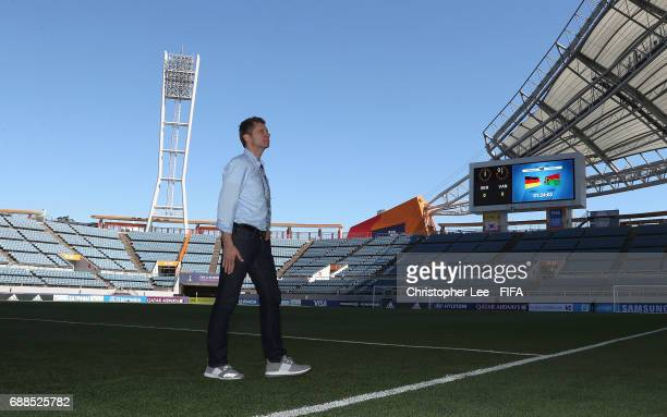 Head Coach Guido Streichsbier of Germany walks around the stadium after he arrives during the FIFA U20 World Cup Korea Republic 2017 group B match...