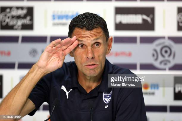 Head coach Gustavo Poyet of Bordeaux during the qualifying second round of the Europa League between Bordeaux and Ventspils at Stade Matmut...