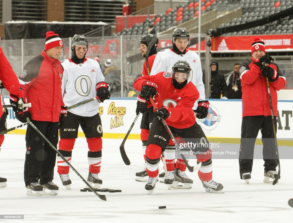 2017 NHL Scotiabank 100 Classic - Practice Sessions : News Photo