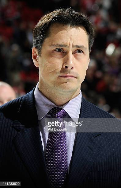 Head coach Guy Boucher of the Tampa Bay Lightning leaves the ice after the victory following an NHL game against the Carolina Hurricanes on March 3...