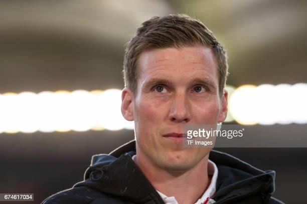 Head coach Hannes Wolf of Stuttgart looks on during the Second Bundesliga match between VfB Stuttgart and 1 FC Union Berlin at MercedesBenz Arena on...