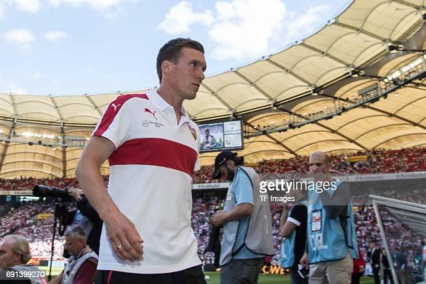 Head coach Hannes Wolf of Stuttgart looks on during the Second Bundesliga match between VfB Stuttgart and FC Wuerzburger Kickers at MercedesBenz...