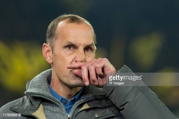 Head coach Heiko Herrlich looks on prior to the DFB Cup second round match between Borussia Dortmund and Borussia Moenchengladbach at Signal Iduna...