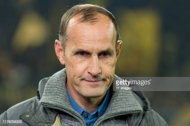 head coach Heiko Herrlich looks on prior to the DFB Cup second round match between Borussia Dortmund and Borussia Moenchengladbach at Signal Iduna...