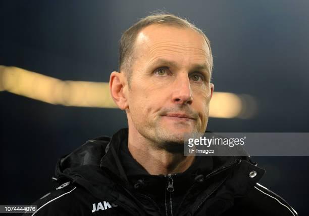 Head coach Heiko Herrlich of Bayer 04 Leverkusen looks on during the Bundesliga match between FC Schalke 04 and Bayer 04 Leverkusen at Veltins-Arena...