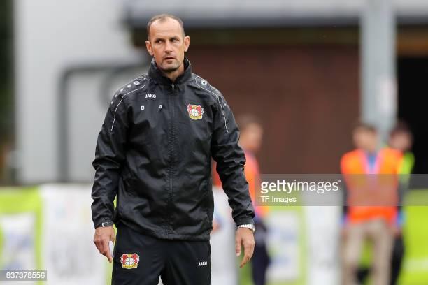 Head coach Heiko Herrlich of Leverkusen looks on during the preseason friendly match between Bayer 04 Leverkusen and Antalyaspor on July 27 2017 in...