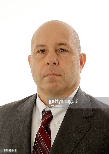 Head coach Herb Sendek of Arizona poses for a portrait during the PAC12 Men's Basketball Media Day on October 17 2013 in San Francisco California