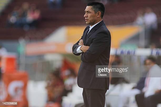 Head Coach Ignacio Ambriz of Chivas during a match between Estudiantes v Chivas as part of Clausura 2012 at 3 de Marzo Stadium on April 01, 2012 in...