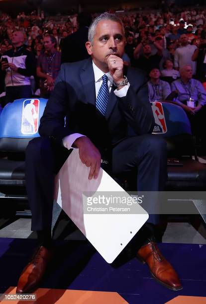 Head coach Igor Kokoskov of the Phoenix Suns before the NBA game against the Dallas Mavericks at Talking Stick Resort Arena on October 17, 2018 in...