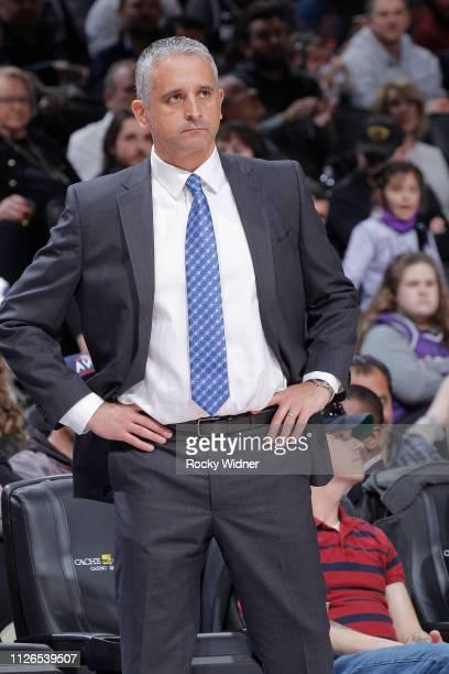 Head coach Igor Kokoskov of the Phoenix Suns coaches against the Sacramento Kings on February 10 2019 at Golden 1 Center in Sacramento California...