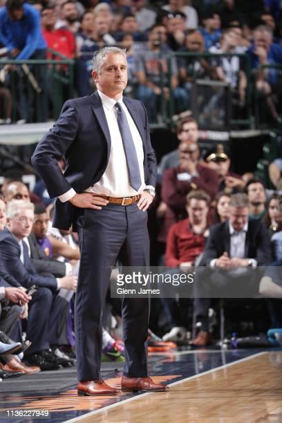 Head Coach Igor Kokoskov of the Phoenix Suns looks on against the Dallas Mavericks on April 9, 2019 at the American Airlines Center in Dallas, Texas....