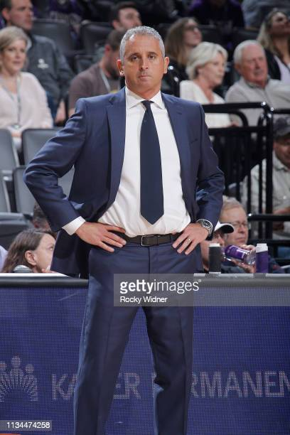 Head coach Igor Kokoskov of the Phoenix Suns looks on during the game against the Sacramento Kings on March 23, 2019 at Golden 1 Center in...