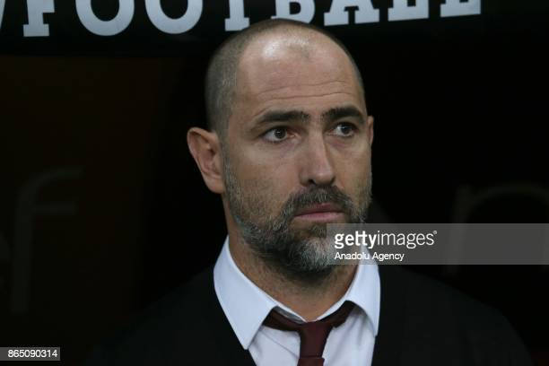 Head coach Igor Tudor of Galatasaray looks on during the Turkish Super Lig match between Galatasaray and Fenerbahce at Ali Sami Yen Sports Complex...
