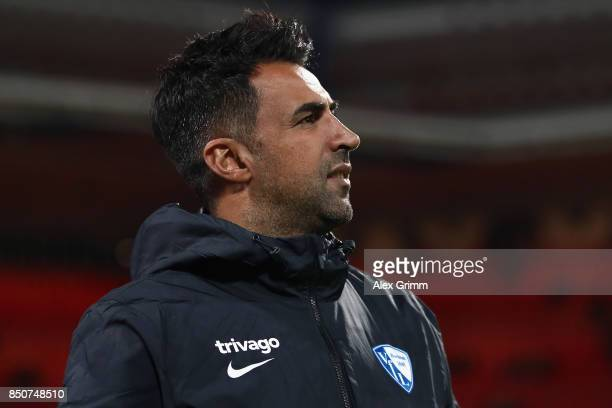 Head coach Ismail Atalan of Bochum looks on prior to the Second Bundesliga match between 1 FC Nuernberg and VfL Bochum 1848 at MaxMorlockStadion on...