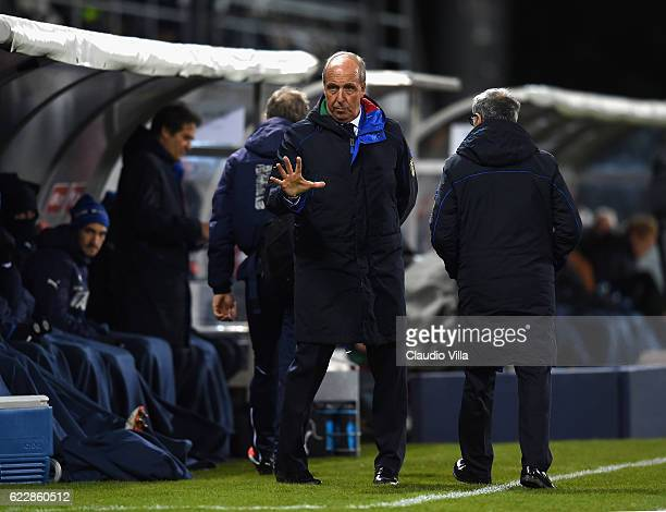 Head coach Italy Giampiero Ventura reacts during the FIFA World Cup 2018 group G Qualifiers football match beetween Liechtenstein and Italy at the...