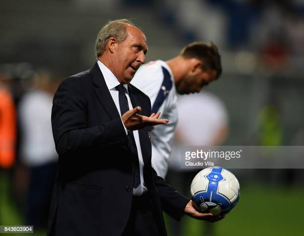 Head coach Italy Gian Piero Ventura looks on prior to the FIFA 2018 World Cup Qualifier between Italy and Israel at Mapei Stadium Citta' del...