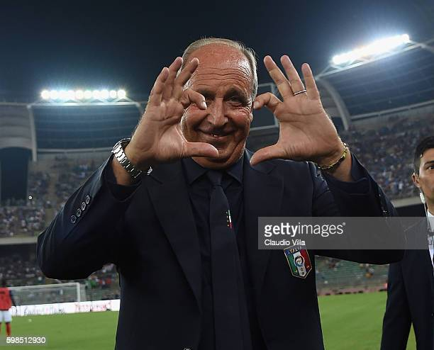Head coach Italy Gian Piero Ventura poses during the international friendly match between Italy and France at Stadio San Nicola on September 1 2016...