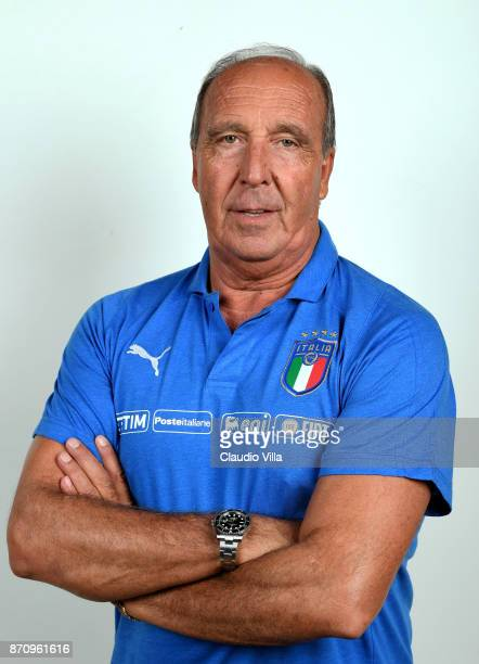Head coach Italy Gian Piero Ventura poses during the official portrait session at Coverciano on November 6 2017 in Florence Italy