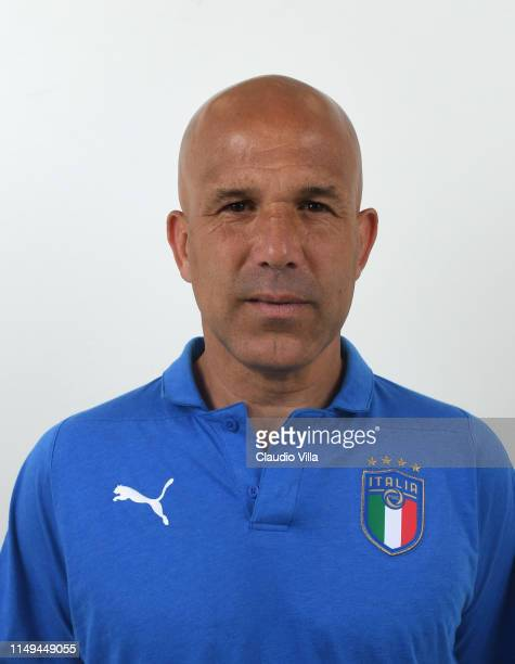 Head coach Italy Luigi Di Biagio poses during the official portrait session at Casteldebole Training Center on June 12, 2019 in Bologna, Italy.