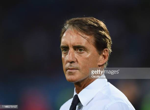 Head coach Italy Roberto Mancini looks on during the UEFA Euro 2020 qualifier between Armenia and Italy at Republican Stadium after Vazgen Sargsyan...