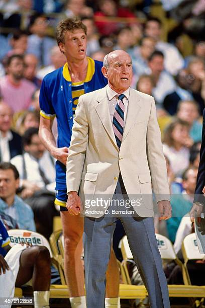Head Coach Jack Ramsay of the Indiana Pacers looks on circa 1985 at the Great Western Forum in Inglewood California NOTE TO USER User expressly...
