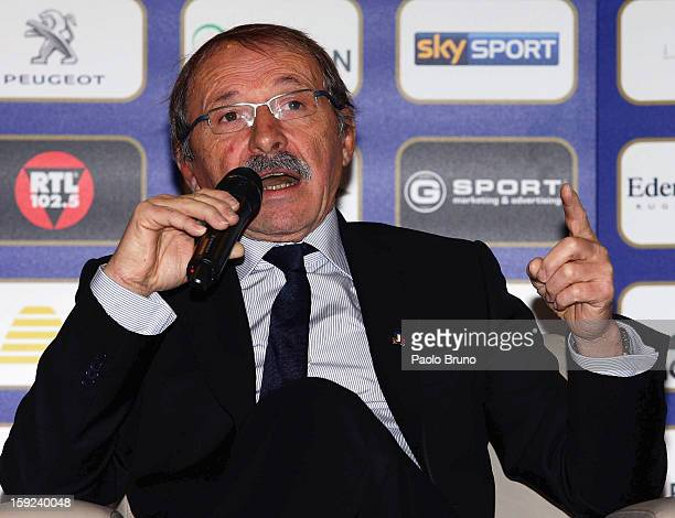 FIR head coach Jacques Brunel attends an Italian Rugby Federation press conference ahead of 2012 RBS Six Nationsat Stadio Olimpico on January 10 2013...