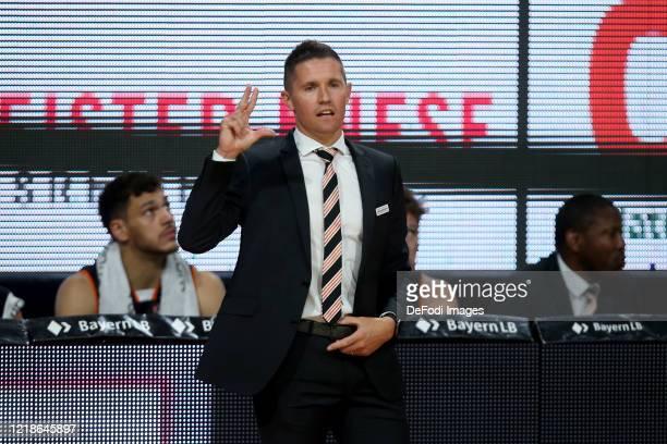 Head coach Jaka Lakovic of Ratiopharm Ulm gestures during the EasyCredit Basketball Bundesliga match between Ratiopharm Ulm and EWE Baskets Oldenburg...
