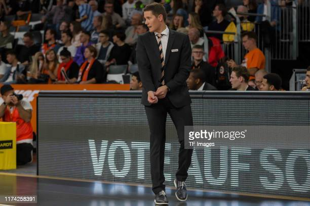 Head coach Jaka Lakovic of Ratiopharm Ulm looks on during the match between Ratiopharm Ulm and Rasta Vechta on September 28, 2019 in Ulm, Germany.