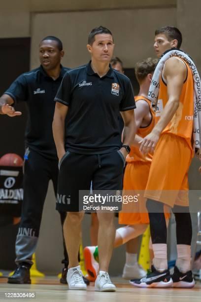Head coach Jaka Lakovic of ratiopharm ulm Looks on during the pre-season friendly match between Ratiopharm Ulm and KK Olimpija at OrangeCampus on...