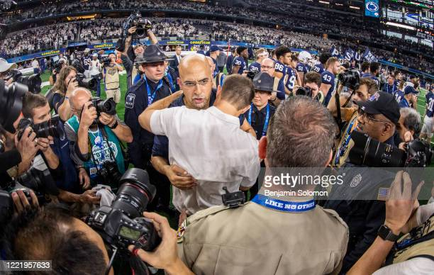 Head coach James Franklin of the Penn State Nittany Lions after winning the Goodyear Cotton Bowl Classic at ATT Stadium on December 28 2019 in...