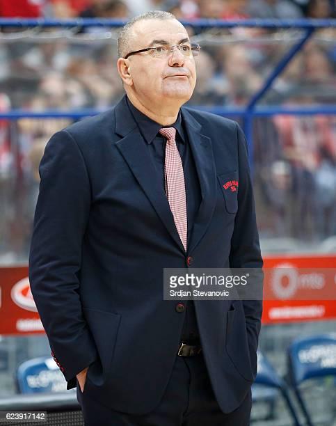 Head coach Jasmin Repesa of Armani looks on during the 2016/2017 Turkish Airlines EuroLeague Regular Season Round 8 game between Crvena Zvezda MTS...